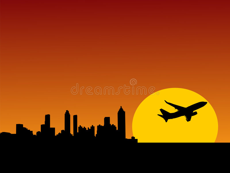 Download Plane Taking Off From Atlanta Stock Photo - Image: 4327510