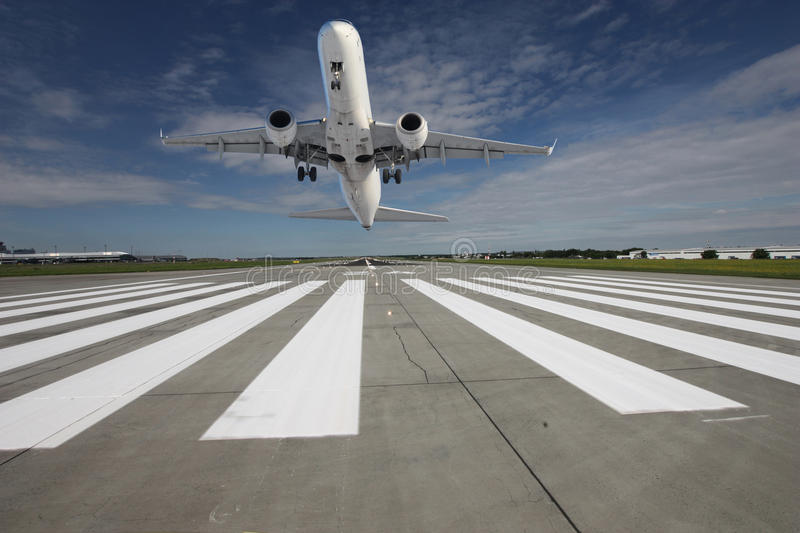 Plane taking off stock photography