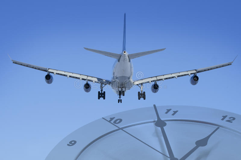 Download Plane on time stock photo. Image of flying, expressing - 24215106