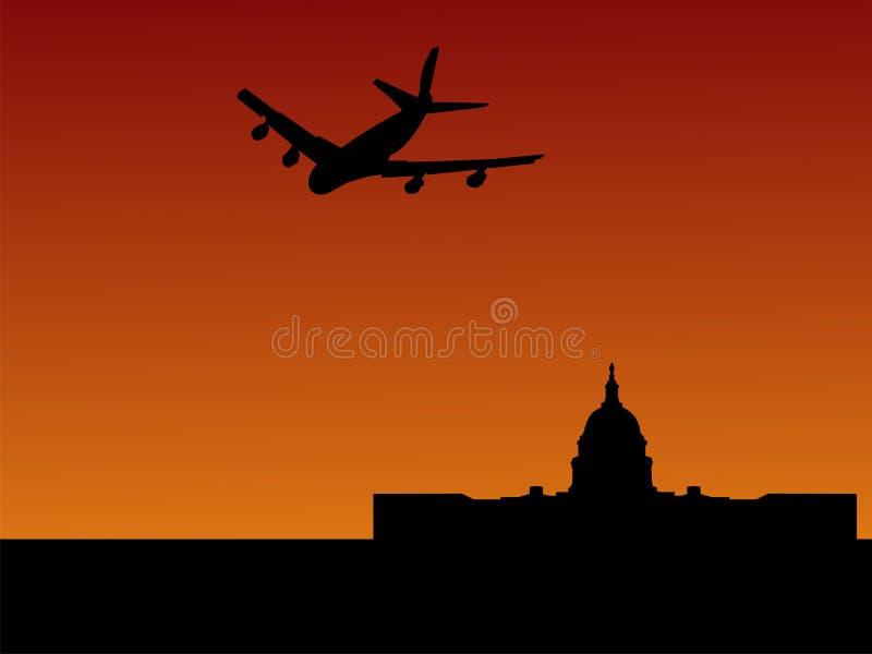 Plane to Washington DC stock illustration