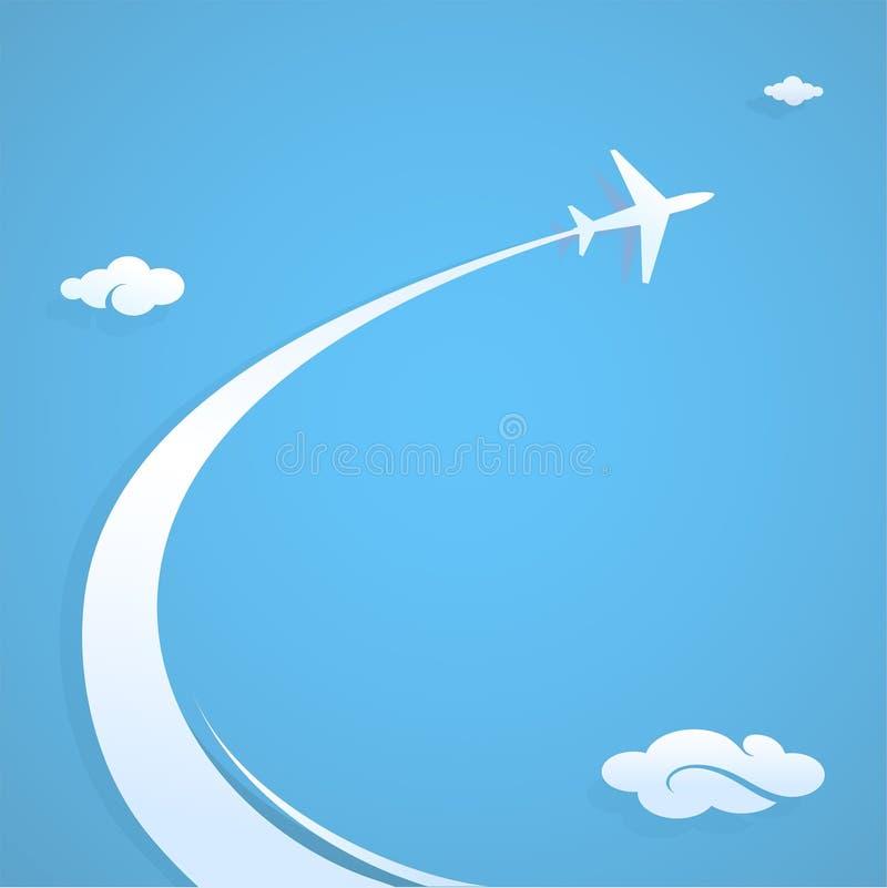 Plane trail royalty free illustration