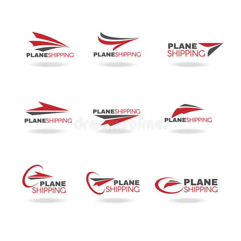 Plane Transportation shipping and delivery logo business vector royalty free illustration