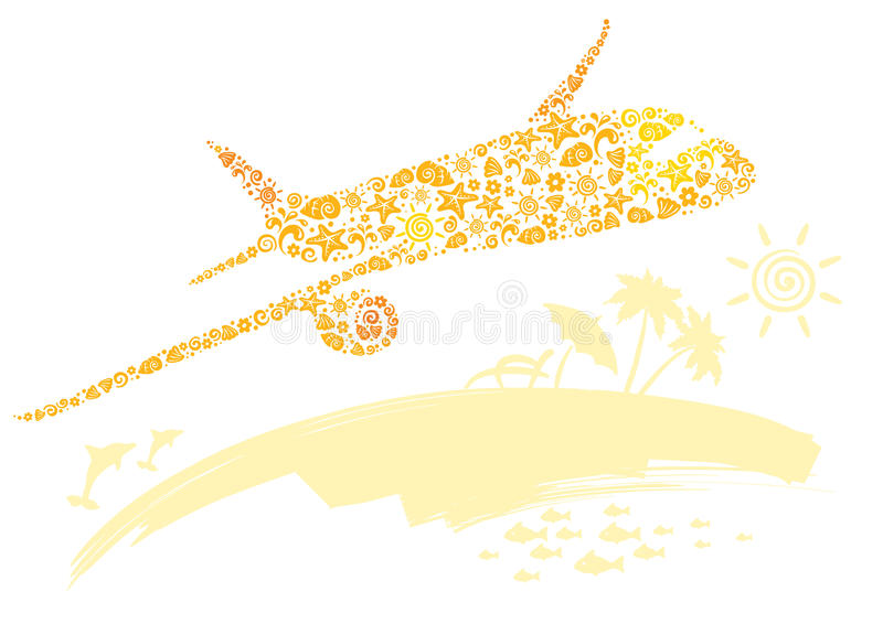 A plane and travel stock illustration