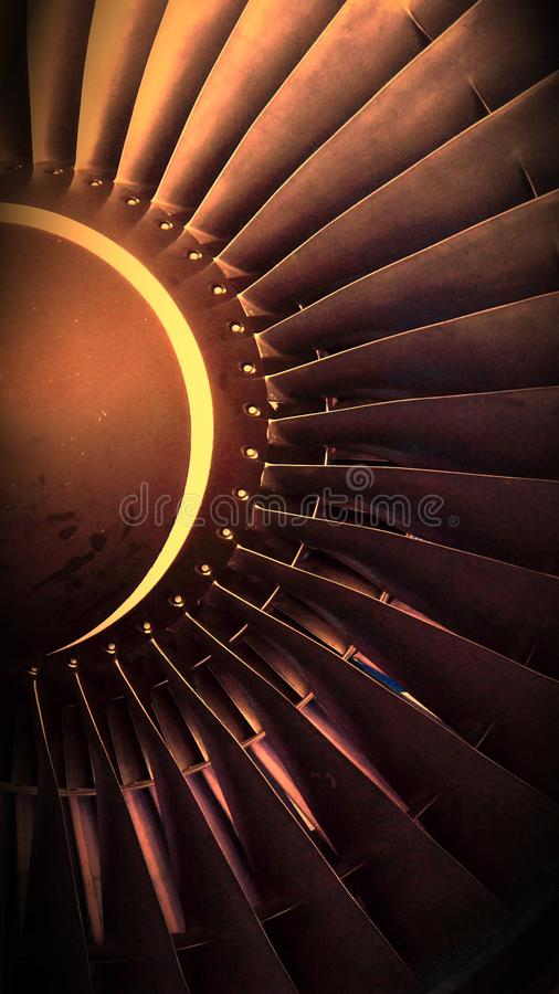 Plane Turbine royalty free stock image