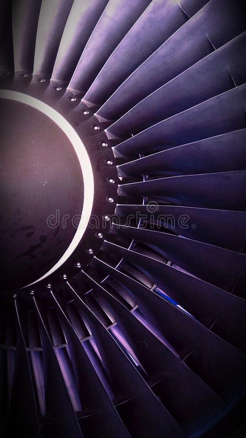 Plane Turbine royalty free stock photo