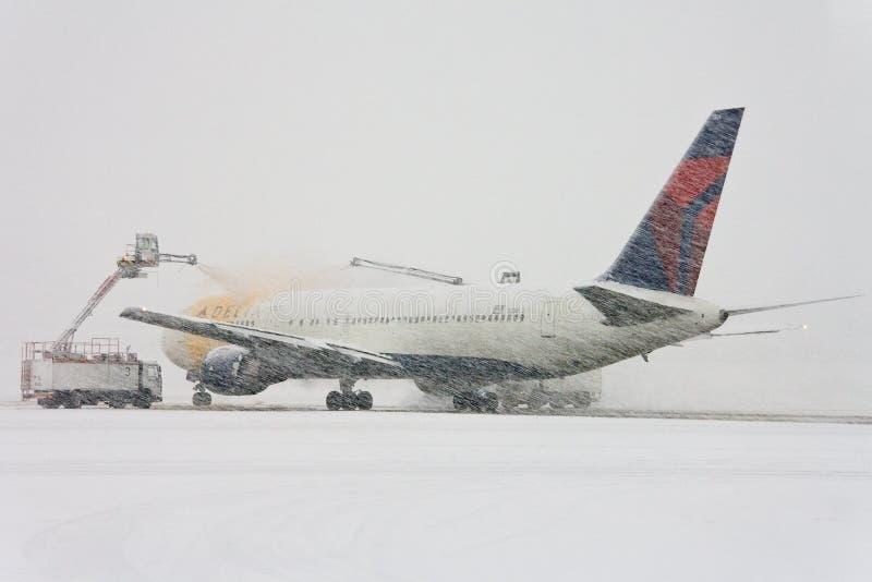 Download Plane Under De-icing Process Editorial Stock Photo - Image: 17641098
