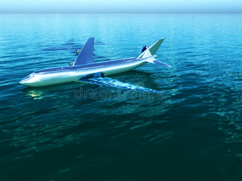Download Plane In Water Stock Photography - Image: 7864962