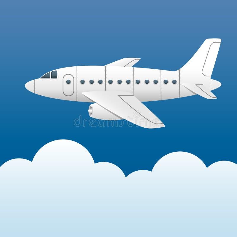 plane white royaltyfri illustrationer