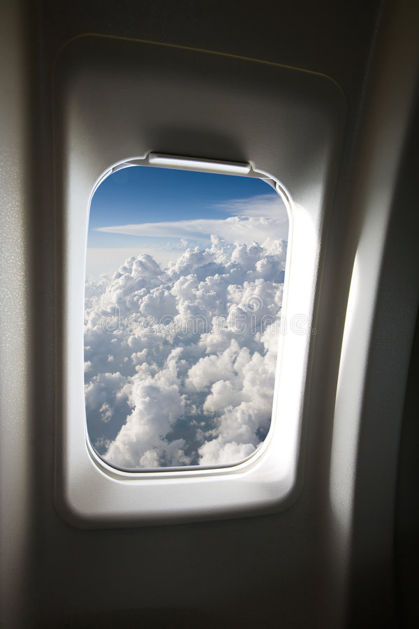 Plane Window royalty free stock photos