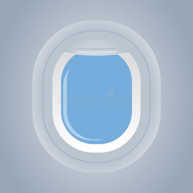 Plane window isolated view from inside vector. Illustration vector illustration