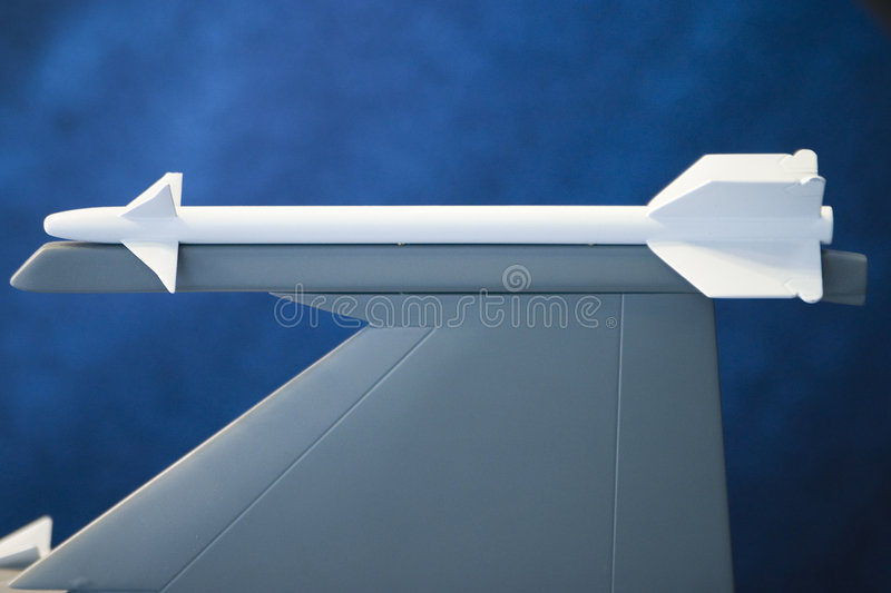 Plane Wing And Rocket royalty free stock photo