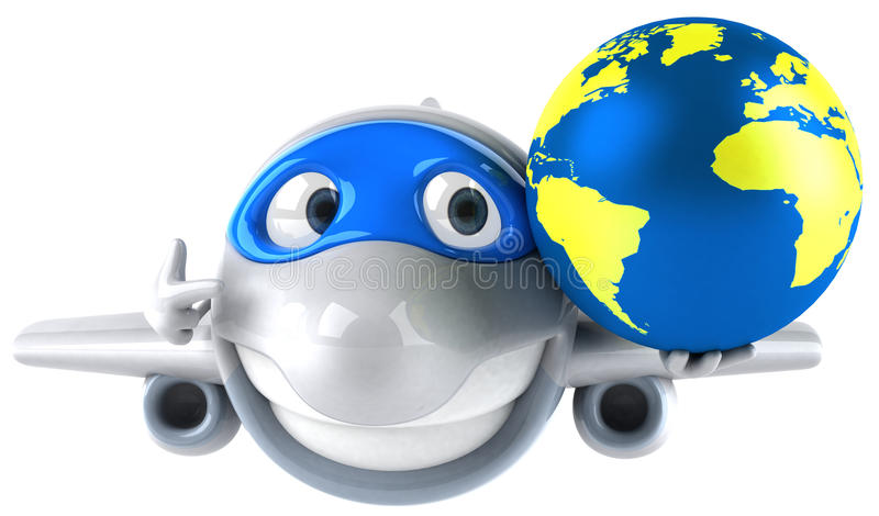 Download Plane and world stock illustration. Illustration of trip - 14861552