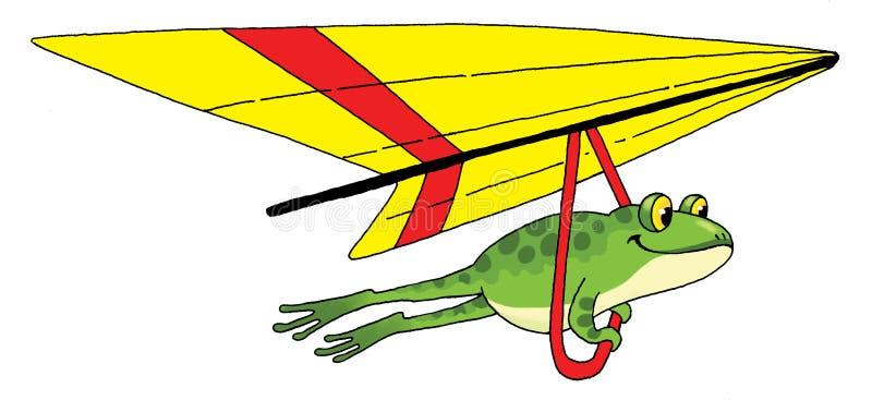 Planeador de la rana ilustración del vector