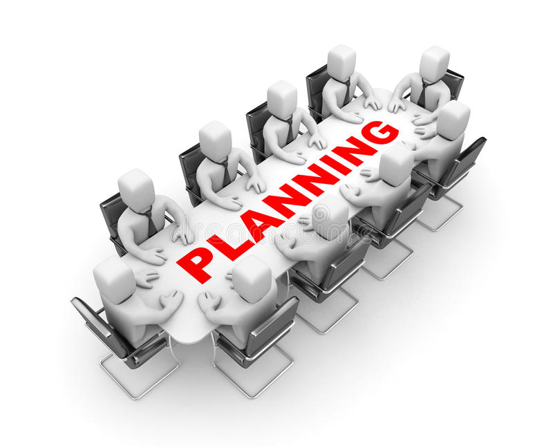 Planeamento ilustração stock