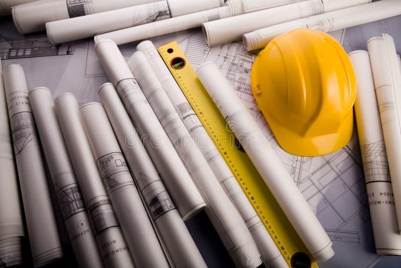 Planeamento da arquitetura fotografia de stock