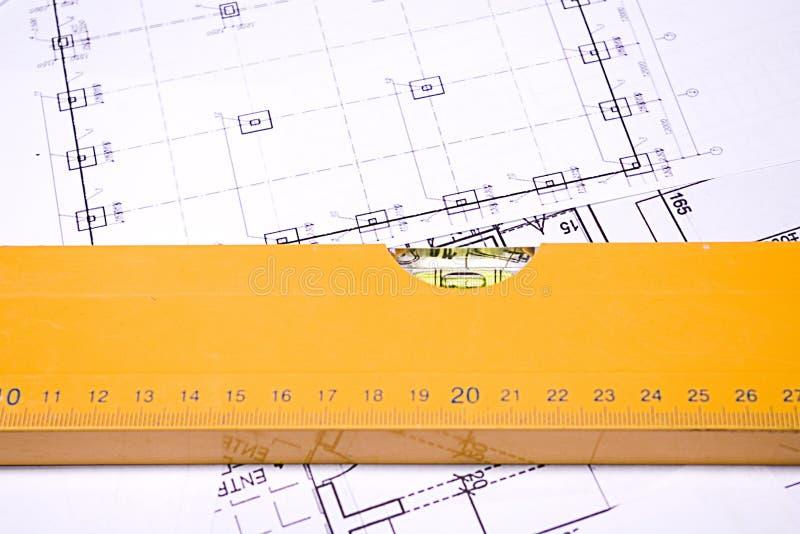 Planeamento da construção fotos de stock royalty free