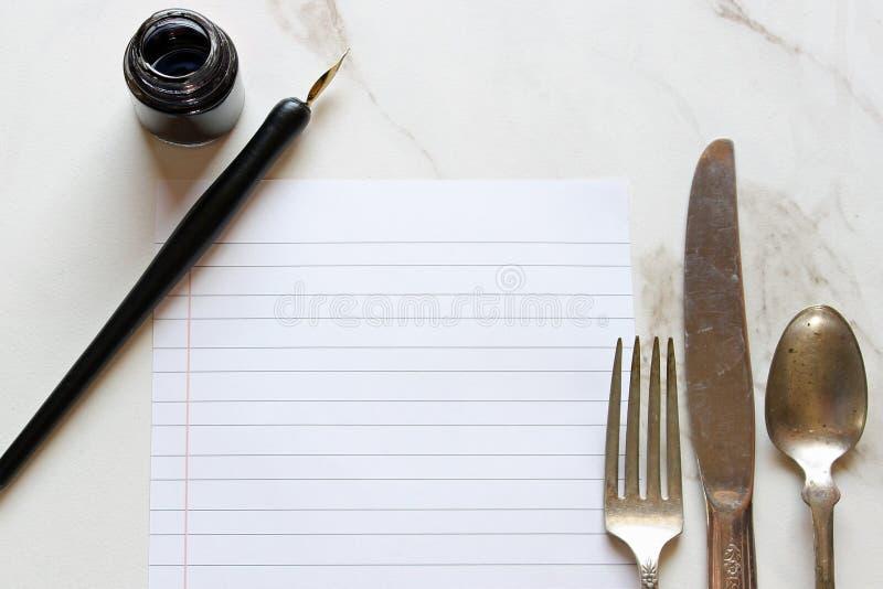 Planeamento da refeição foto de stock