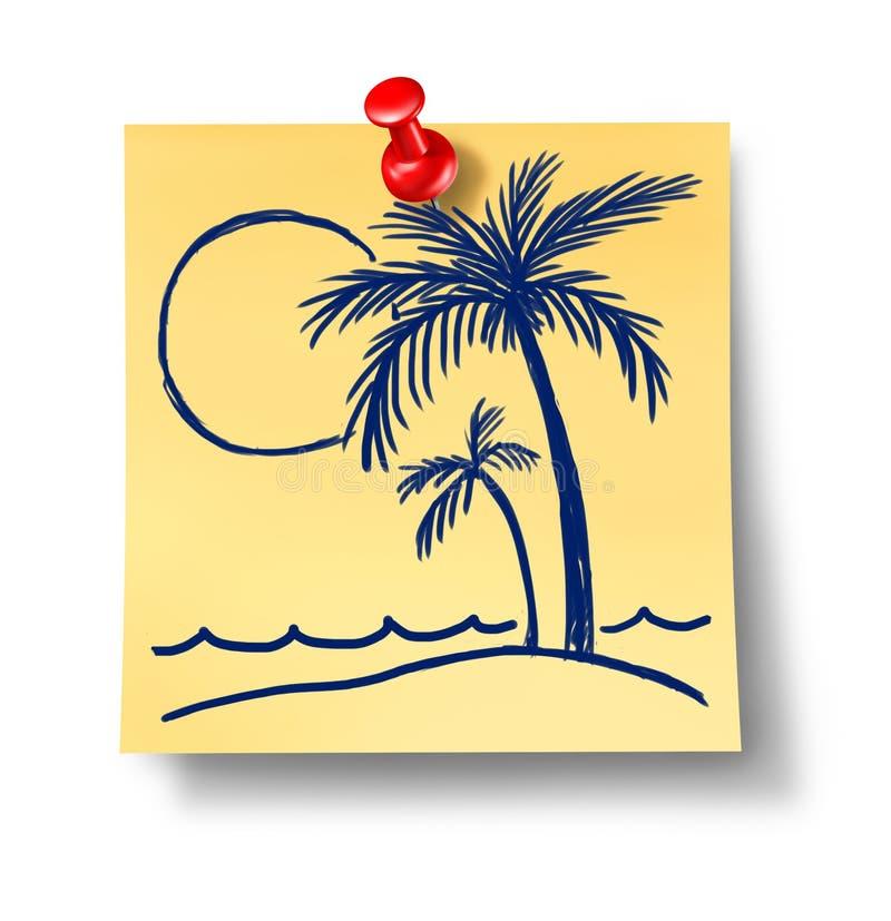 Planeamento das férias ilustração do vetor