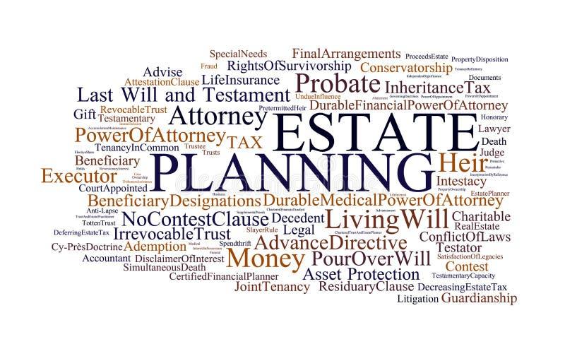 Planeamento de propriedade ilustração stock