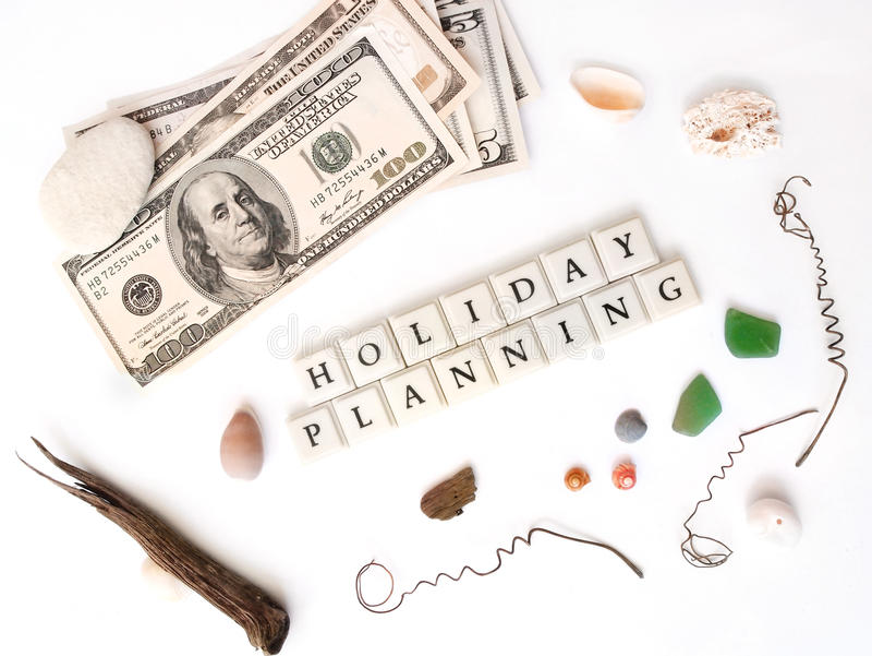 Planeamento do feriado fotos de stock royalty free