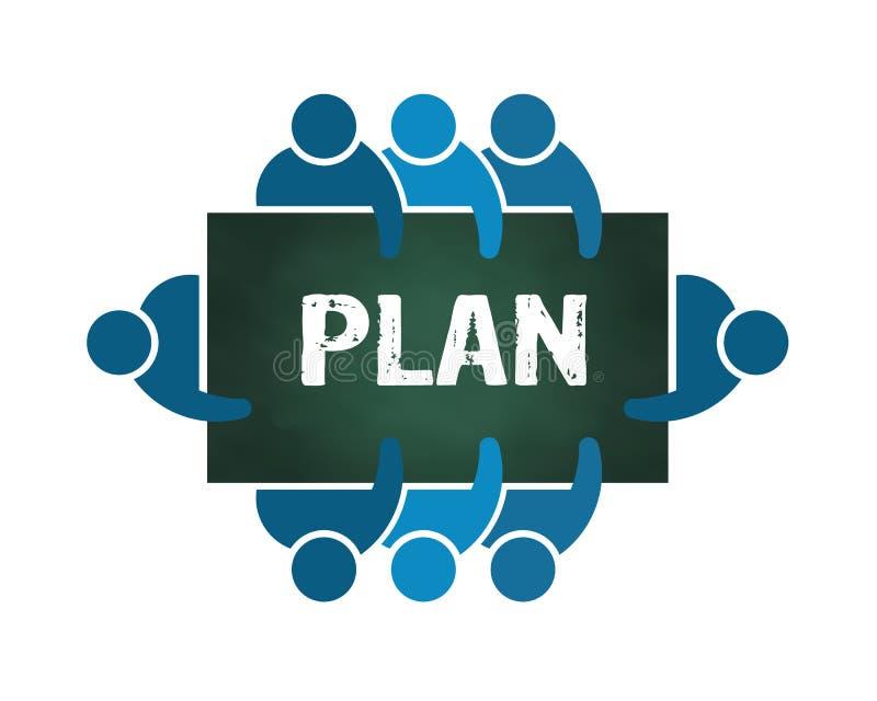 Planeamento do grupo de pessoas ilustração do vetor
