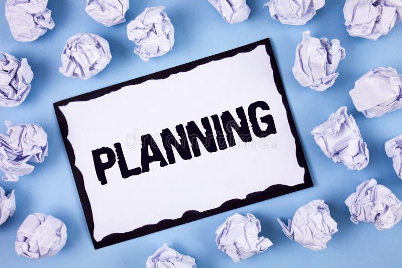 Planeamento do texto da escrita da palavra Conceito do negócio para definir estratégias para conseguir um processo do objetivo de imagem de stock