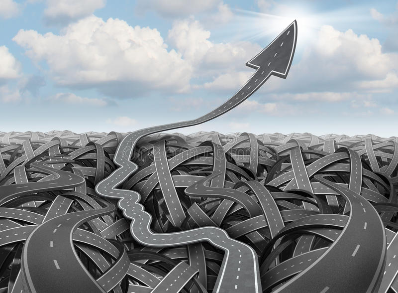 Planeamento e estratégia do sucesso ilustração stock