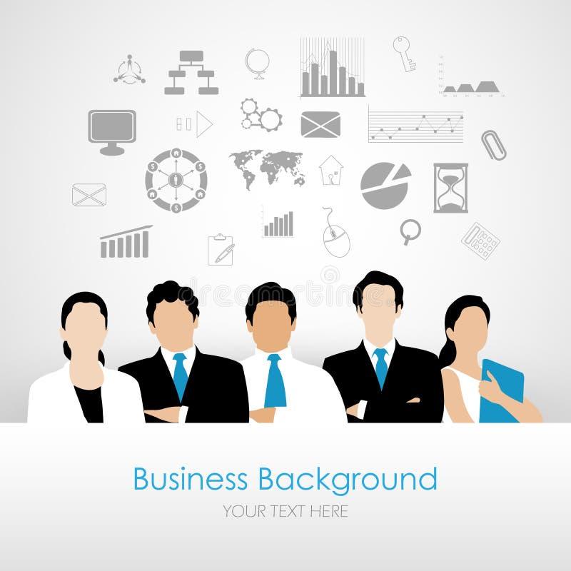 Planeamento empresarial ilustração royalty free