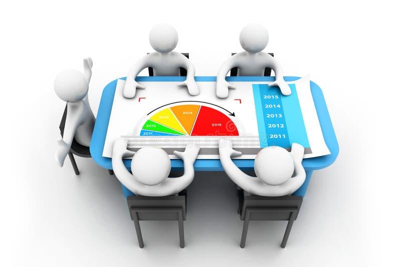 Planeamento empresarial ilustração stock