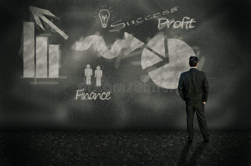 Planeamento empresarial dianteiro imagens de stock royalty free