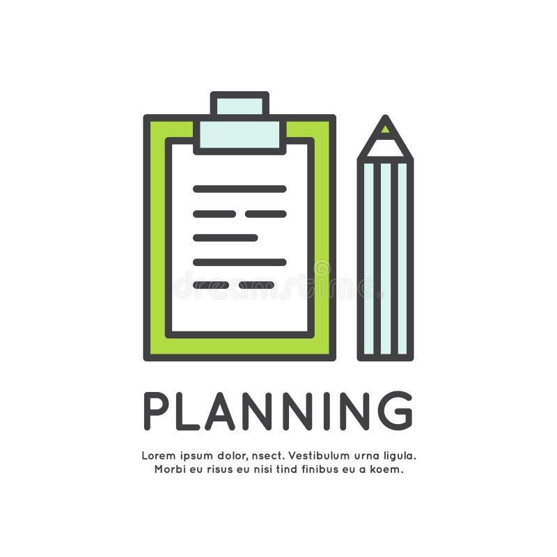Planeamento empresarial e programação ilustração do vetor