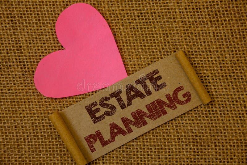 Planeamiento de estado del texto de la escritura Ideas de las propiedades de la hipoteca del plan de retiro de la inversión del s imágenes de archivo libres de regalías