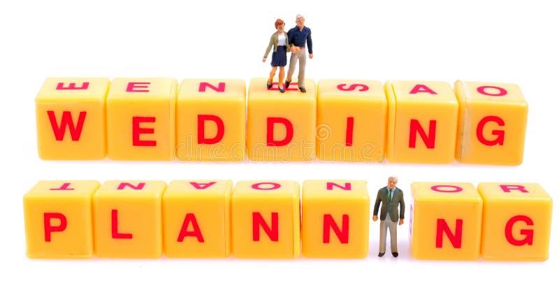 Planeamiento de la boda foto de archivo libre de regalías