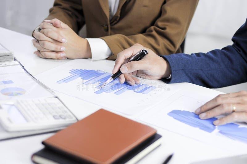 Planeamiento de la contabilidad, gestión de inversiones, encontrando a consultores, estudio de la gestión, presentación de ideas imagen de archivo