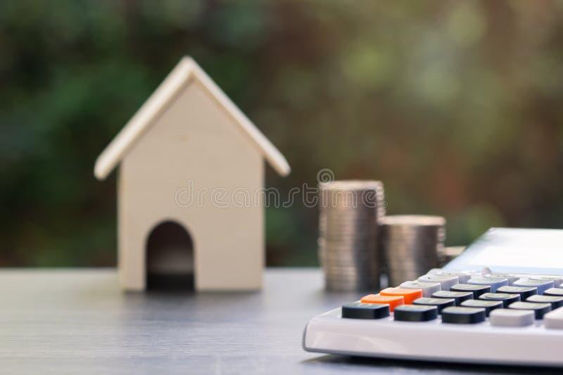 Planeamiento de la inversión de la propiedad, préstamo hipotecario, concepto de la hipoteca imagenes de archivo