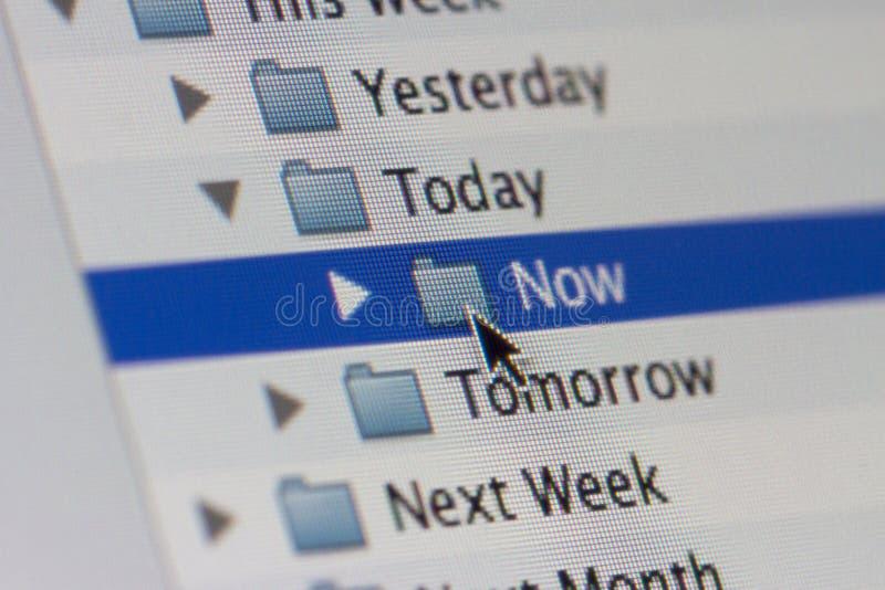 Planeamiento del horario imágenes de archivo libres de regalías