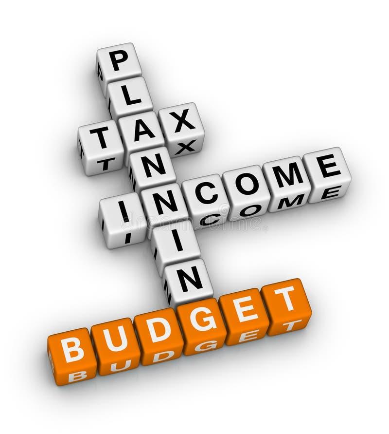 Planeamiento del presupuesto ilustración del vector