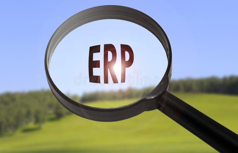 Planeamiento del recurso de la empresa del ERP fotografía de archivo libre de regalías