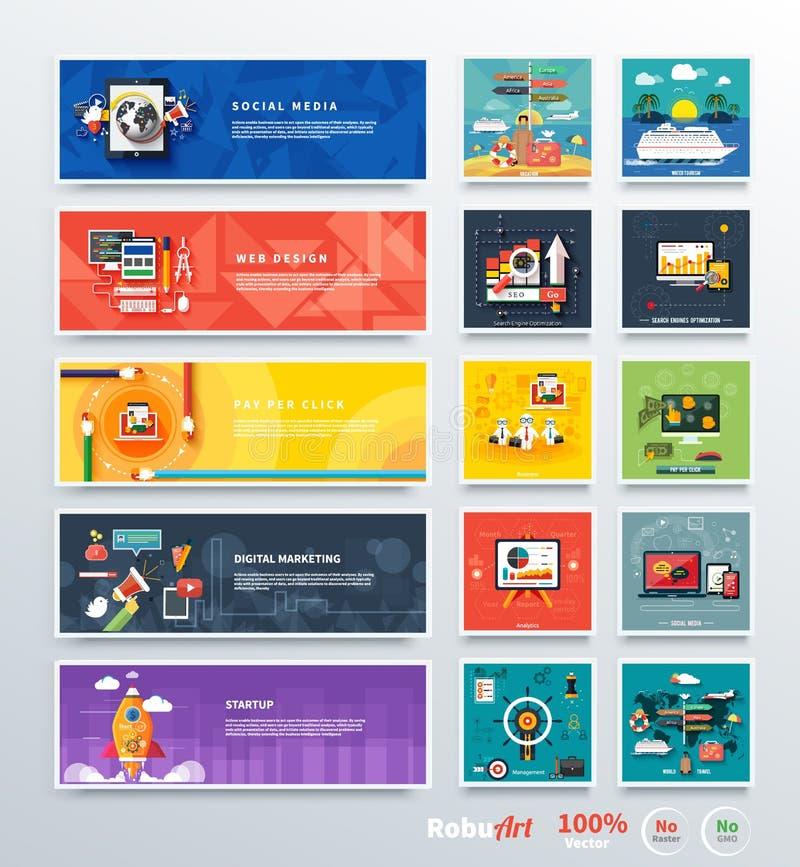 Planeamiento digital del srartup del márketing de la gestión stock de ilustración