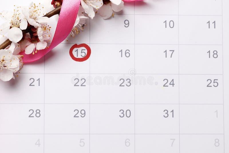 _planeamiento embarazo calendario intentar para tener bebé imagen de archivo libre de regalías