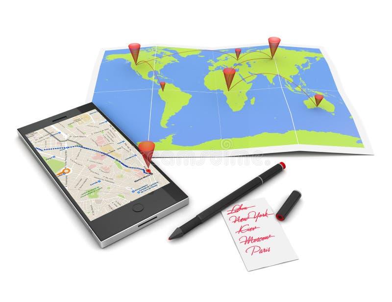 Planeando a viagem ilustração royalty free