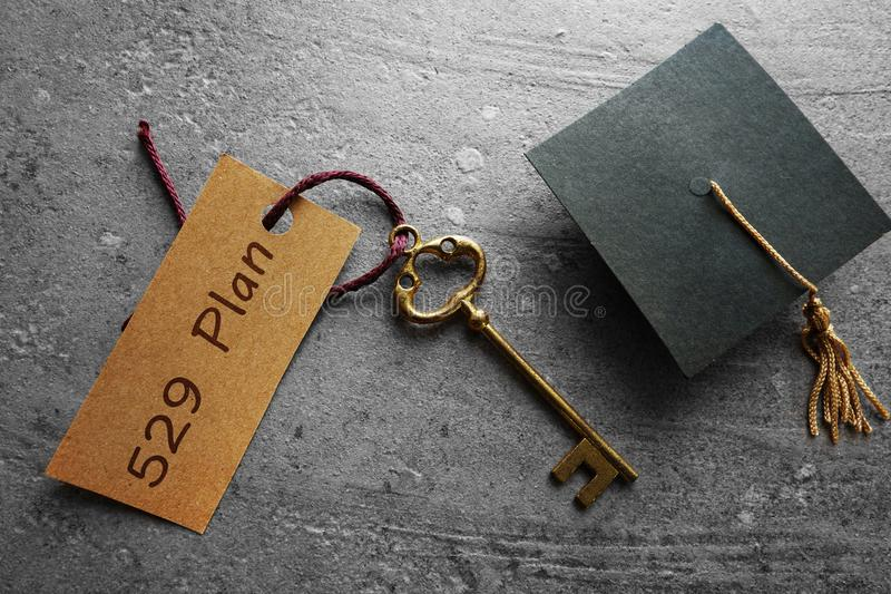 planear de 529 economias da faculdade imagens de stock royalty free