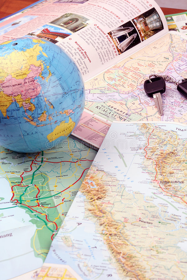 Planear viajar foto de stock royalty free