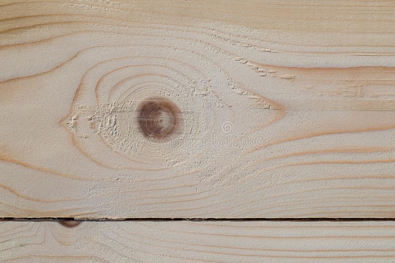 Planed pine Board with knots royalty free stock photography