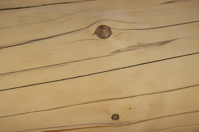 Planed timber with defects royalty free stock images