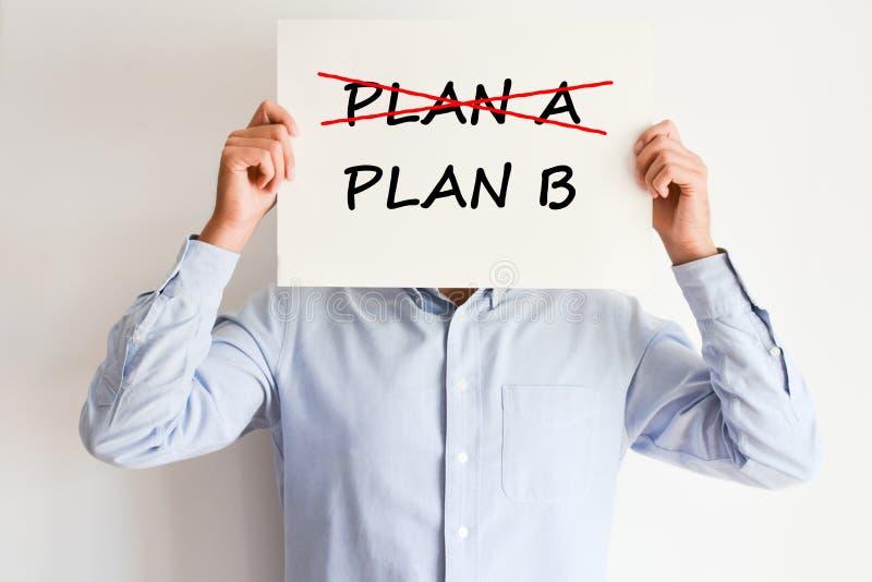 Planee A o planee la decisión de B fotografía de archivo libre de regalías