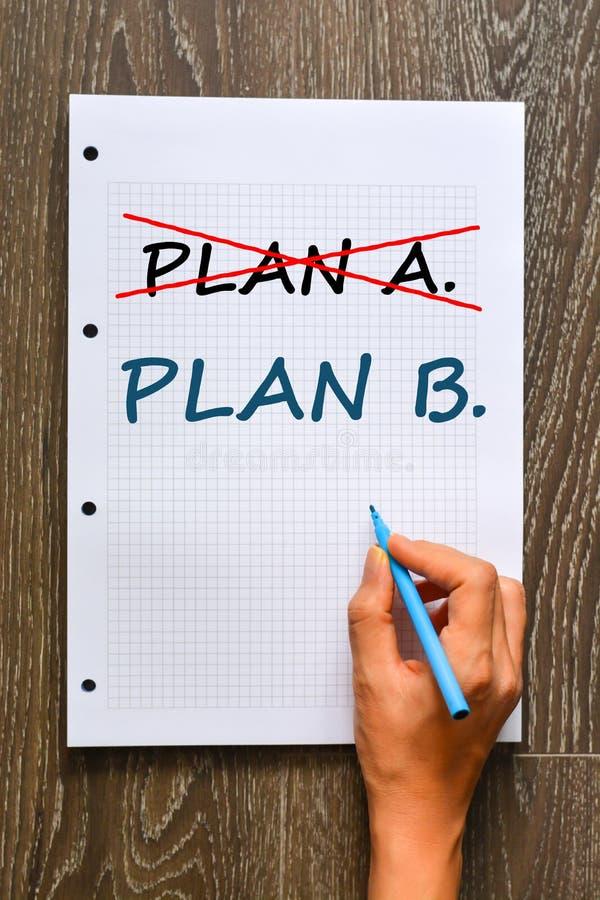 Planee A o planee la decisión de B foto de archivo