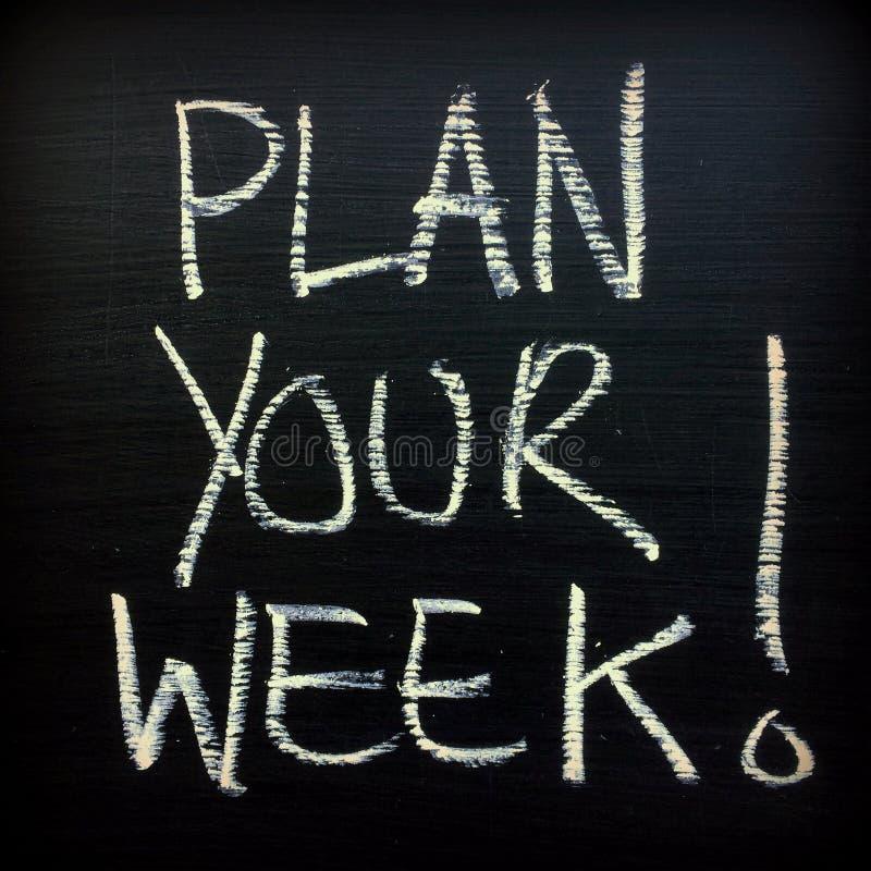 ¡Planee su semana! fotografía de archivo
