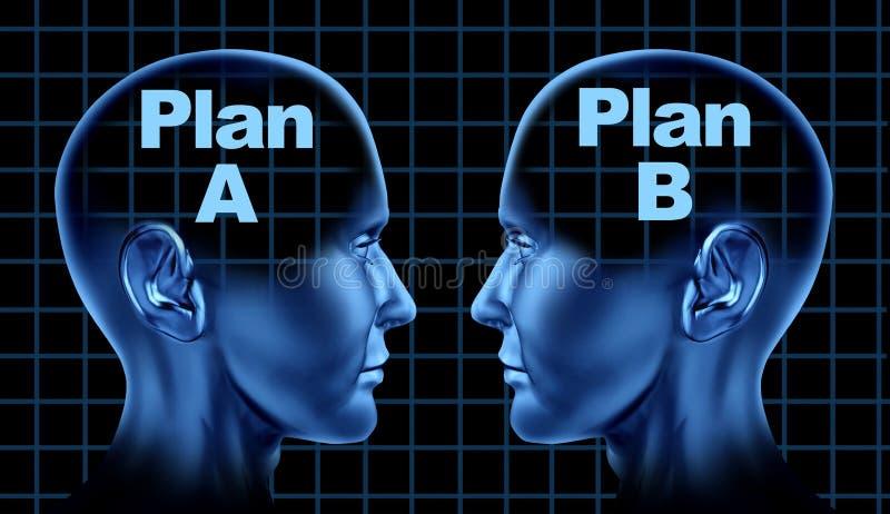 Planee un pensamiento de las opciones de la planificación de empresas del plan b libre illustration