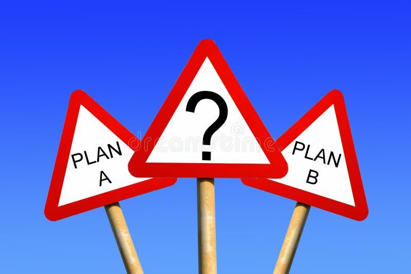 Planee un plan B imagenes de archivo